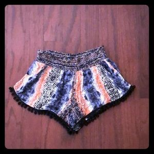 Anthropologie Olivaceous PomPom Shorts